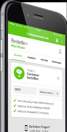 Container in der App bundesweit suchen