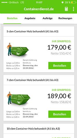 Container per App auswählen