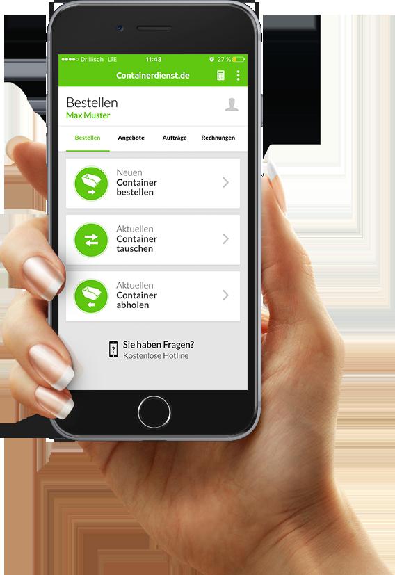 Containerdienst.de App auf Android