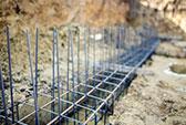 Abfallbeispiel für Betonbruch & Estrich (< 80 cm mit Eisen)
