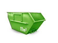 11 cbm Bauschutt Container
