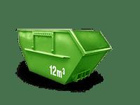 12 cbm Bauschutt Container