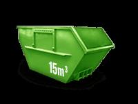 15 cbm Bauschutt Container