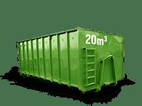20 cbm Bauschutt Container