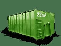 22 cbm Bauschutt Container
