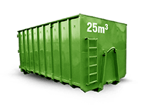 25 cbm Bauschutt Container