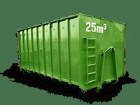 25 cbm Baumischabfall Container