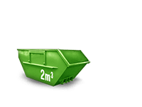 2 cbm Bauschutt Container
