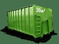 30 cbm Bauschutt Container