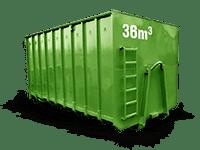 36 cbm Baumischabfall Container