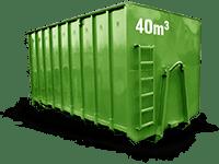 40 cbm Bauschutt Container