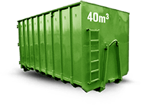 40 cbm Baumischabfall Container