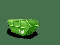 4 cbm Bauschutt Container
