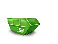 5.5 cbm Baumischabfall Container