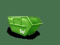 6 cbm Bauschutt Container
