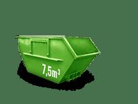 7.5 cbm Bauschutt Container