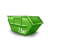 7.5 cbm Baumischabfall Container