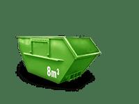 8 cbm Bauschutt Container