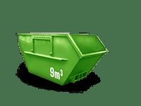 9 cbm Bauschutt Container