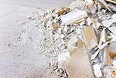 Abfallbeispiel für Gips / Rigips
