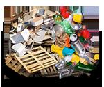 Siedlungsabfälle entsorgen mit Siedlungsabfall Container